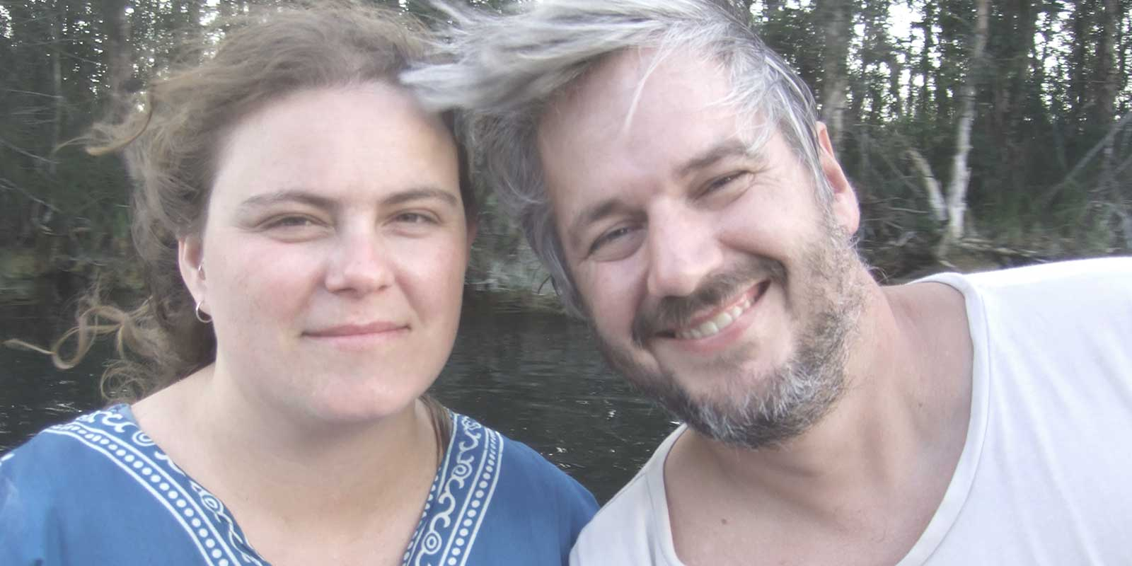 Co-founders of Cheeky Tiki Jamie Wilson and Anjy Cameron