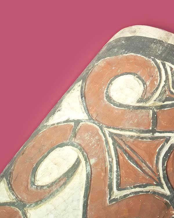 Hand carved decorative Asmat war shield