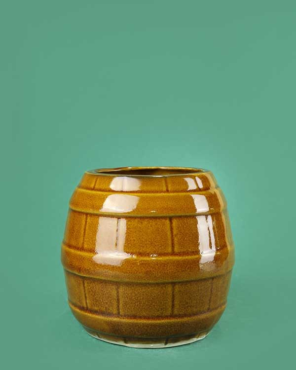 Ceramic Barrel Tiki Mug