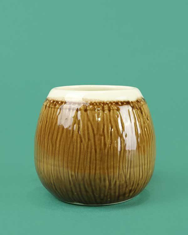 Ceramic Coconut Tiki Mug