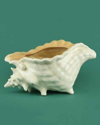 Ceramic conch shell tiki cocktail sharer