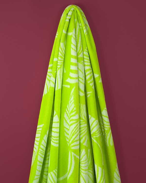 Tropical print beach towel
