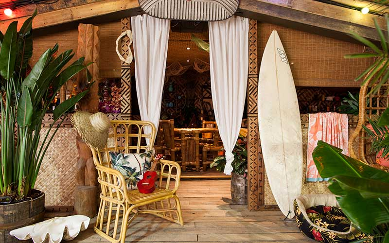 Island style interior shot