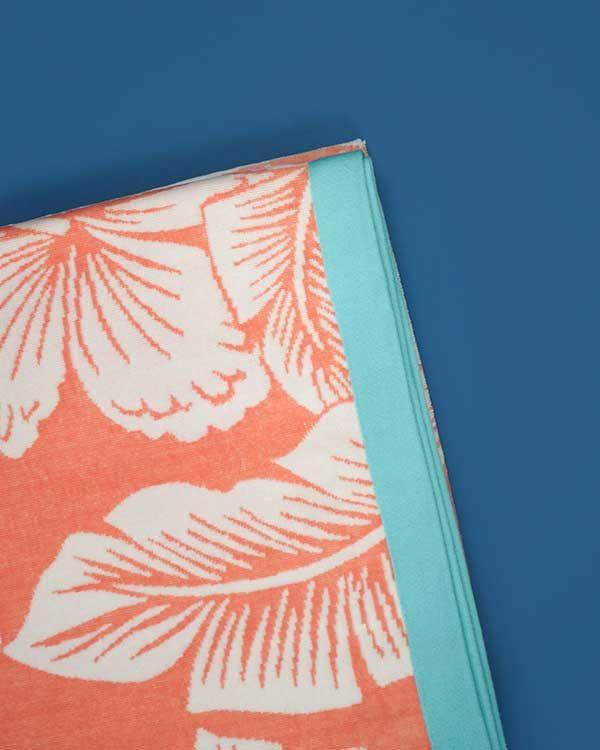 Tropical printed beach towel