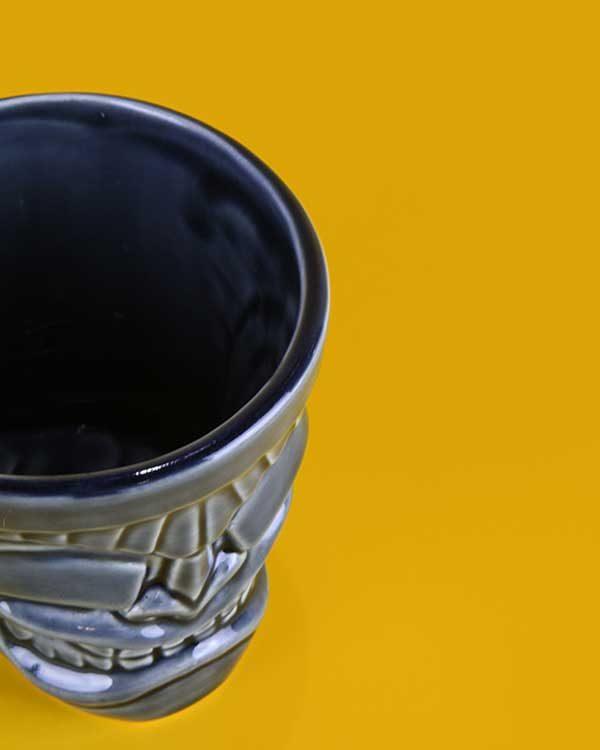 Ceramic ku tiki mug grey