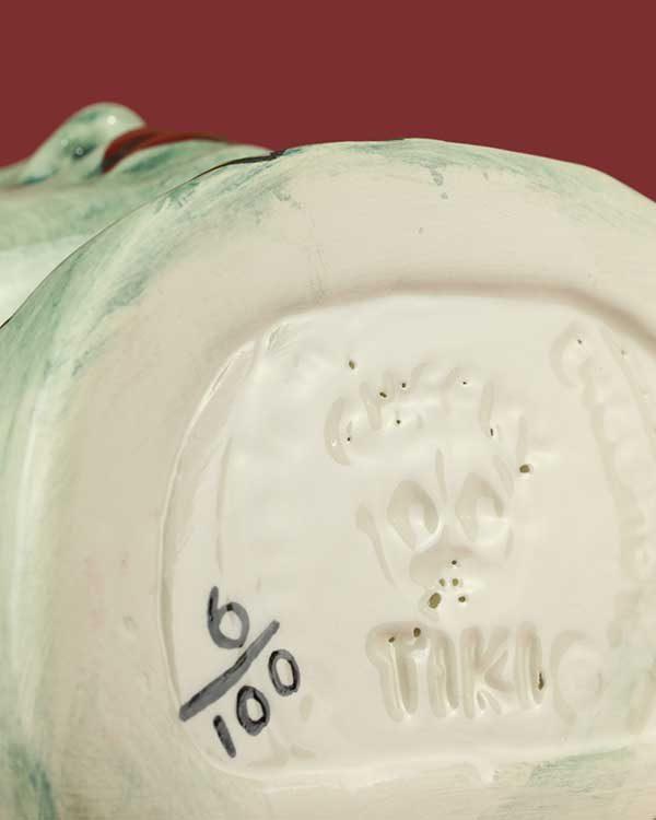 Limited Edition Blue Lady hand painted Tiki Mug