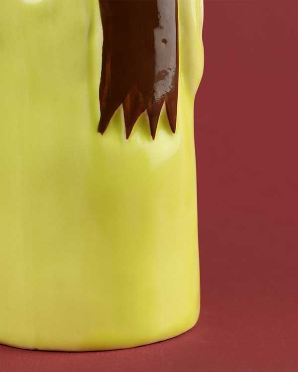 Tiki racer hand painted zombie mug
