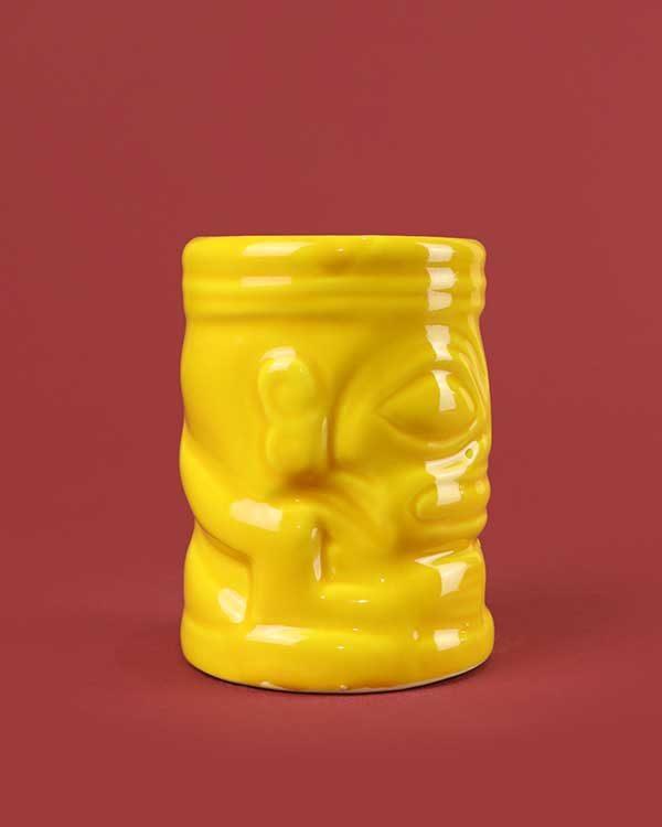 Ceramic marqui marq tiki mug yellow