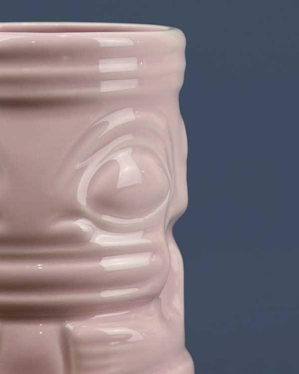 Ceramic marqui marq tiki mug pink