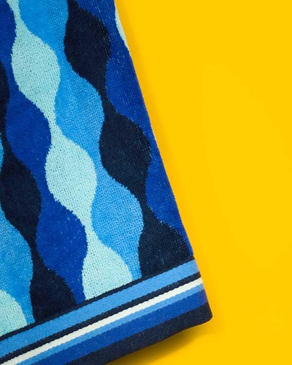 Wavey Printed Beach Towel