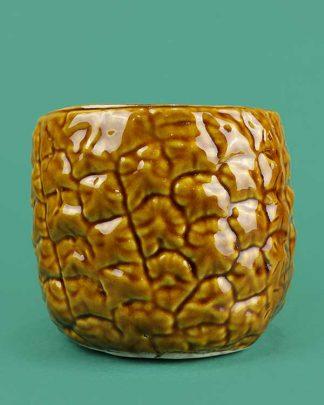 Ceramic pineapple tiki cocktail sharer