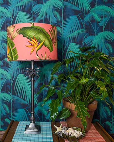 Tropical Palm Lamp