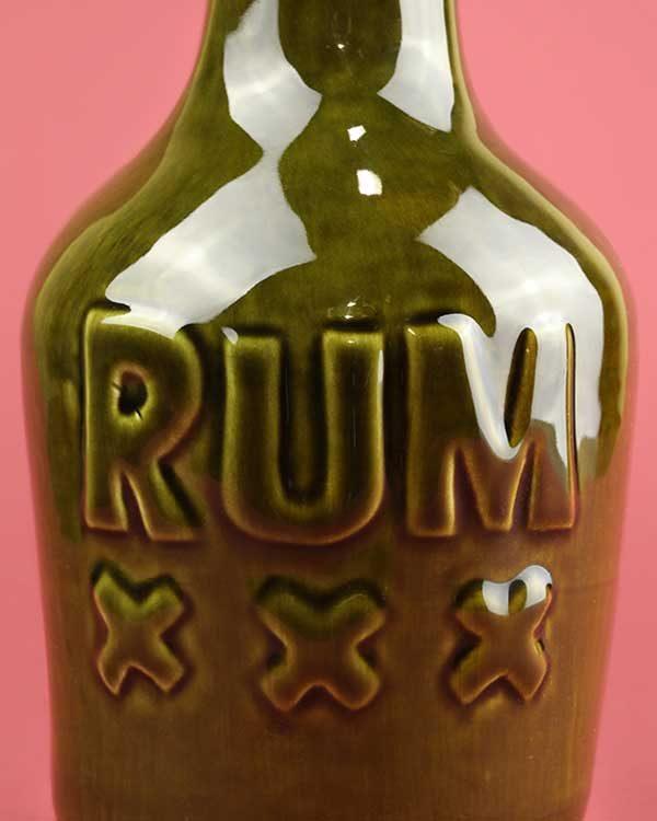 Ceramic Rum Bottle Tiki Mug