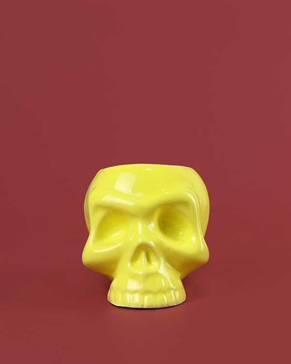 Ceramic Skull Tiki Mug