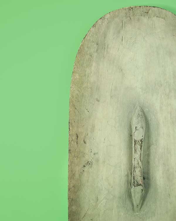 Hand carved decorative war shield