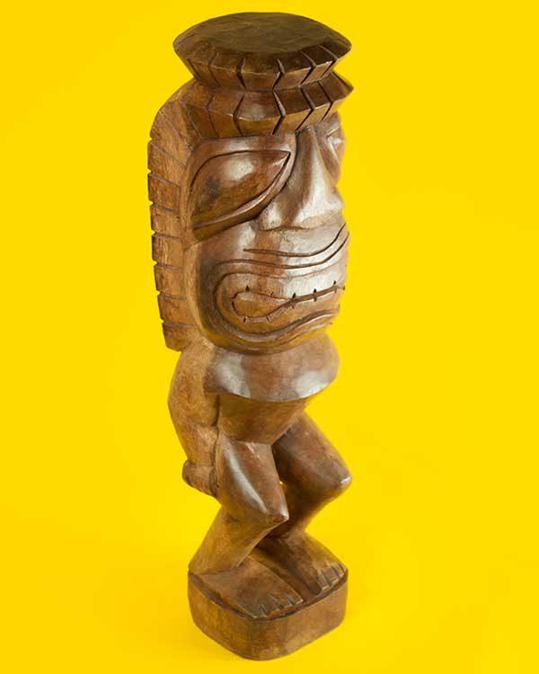 Hand Carved Wooden Tiki - KU