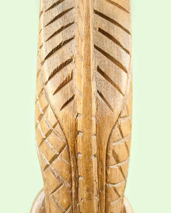 Hand Carved Wooden Tiki - Lono