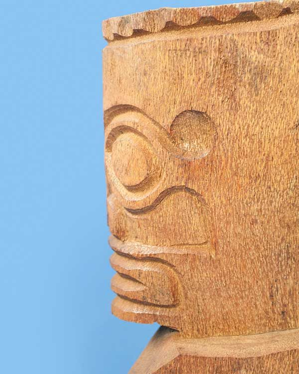Carved wooden Tahitian Tiki
