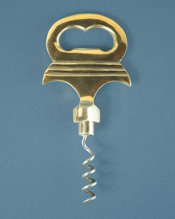 Nautical Brass Anchor Bottle Opener and Corkscrew