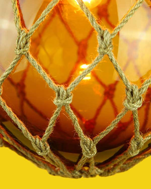 Glass Fish Float Lamp