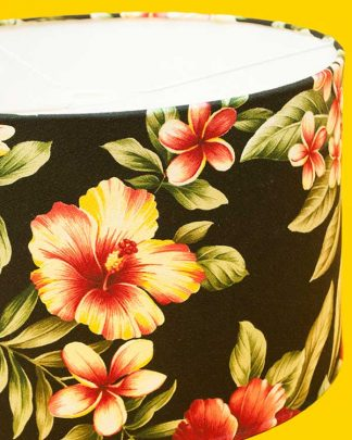 Tropical Print Lampshade Drum