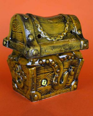 Ceramic tiki treasure chest cocktail sharer