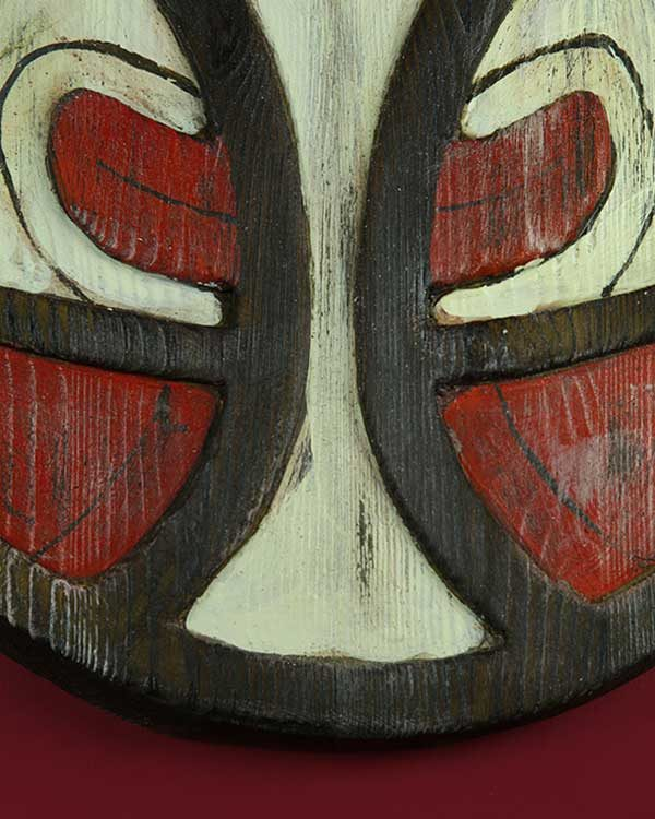 Papa New Guinean carved wooden mask