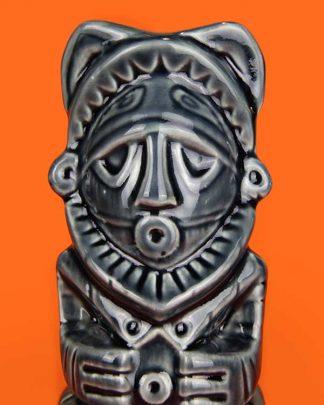 Ceramic papu tiki mug grey
