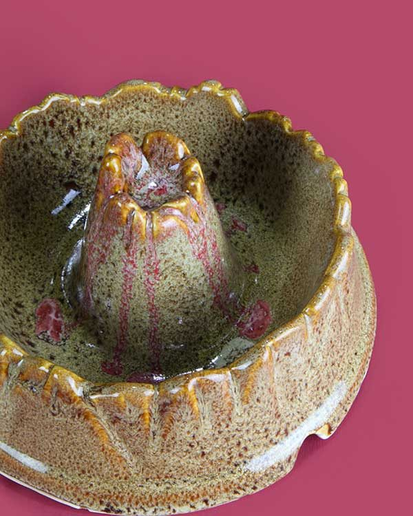 Ceramic tiki volcano bowl cocktail sharer