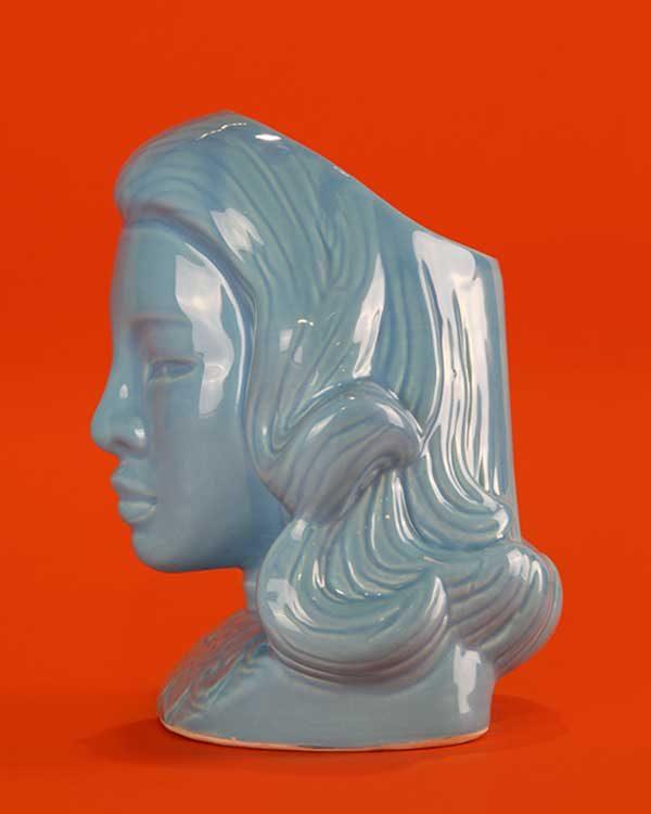 Ceramic Blue Lady Tiki Mug