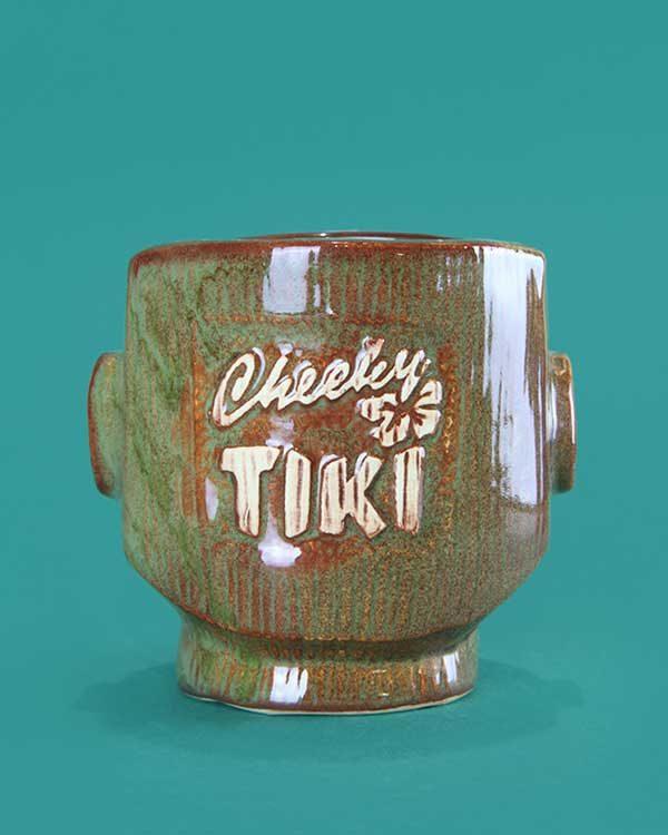 Ceramic cheeky tiki mug brown
