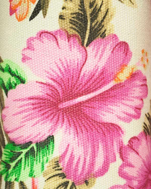 Tropical Hibiscus Print Make Up Bag