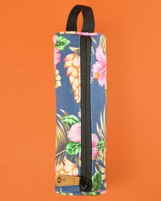 Tropical Hibiscus Print Make Up Bag
