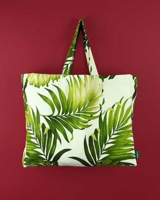 Tropical Printed Fabric Shopper