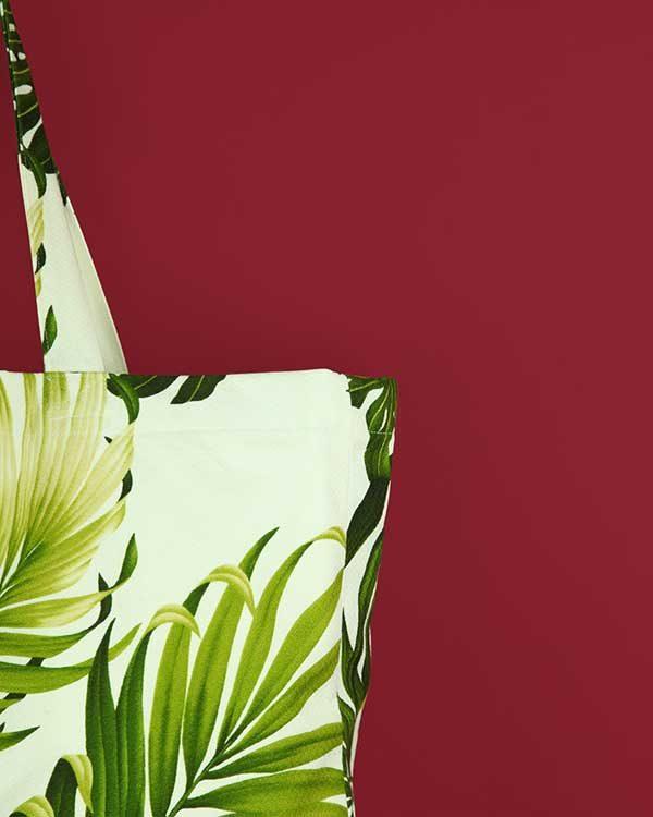 Tropical Printed Fabric Shopper