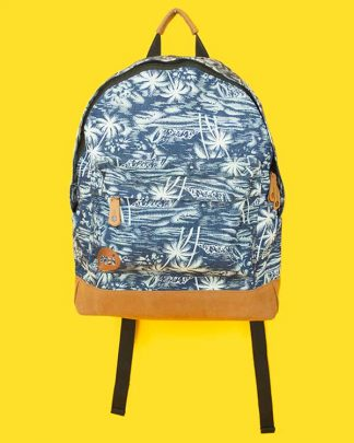 Tropical Palm Print Back Pack