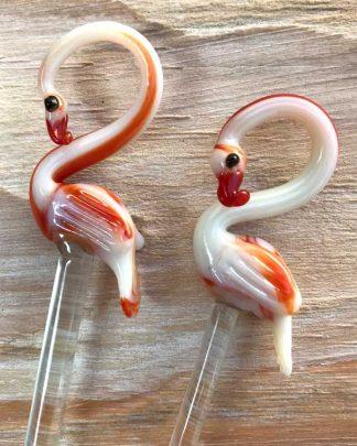 Flamingo Tiki Swizzle Sticks / Stirrers