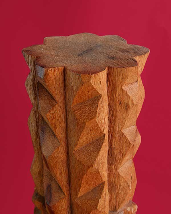 Hand Carved Wooden Kanaloa Tiki Detail