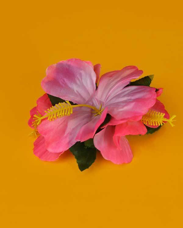 Hibiscus flower hair clip