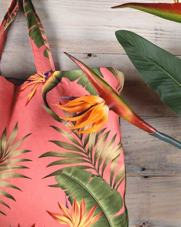 Tropical printed bag for life