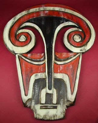 Hand Carved Papa New Guinean Mask