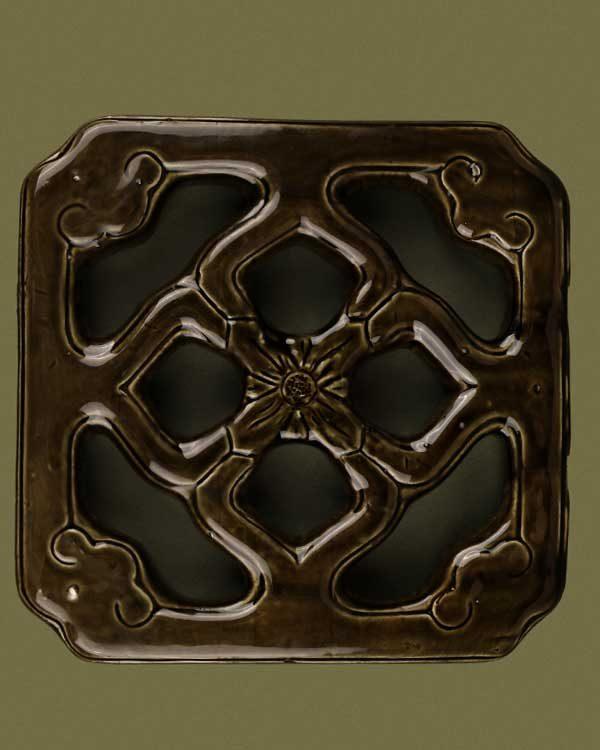 Chinese green ceramic tile