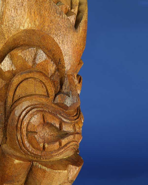 Hand Carved Wooden KU Tiki