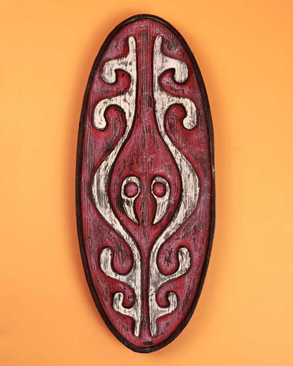 Hand carved Papa New Guinean shield