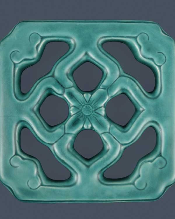 Chinese jade ceramic tile