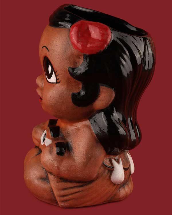 Hula girl tiki mug hand painted