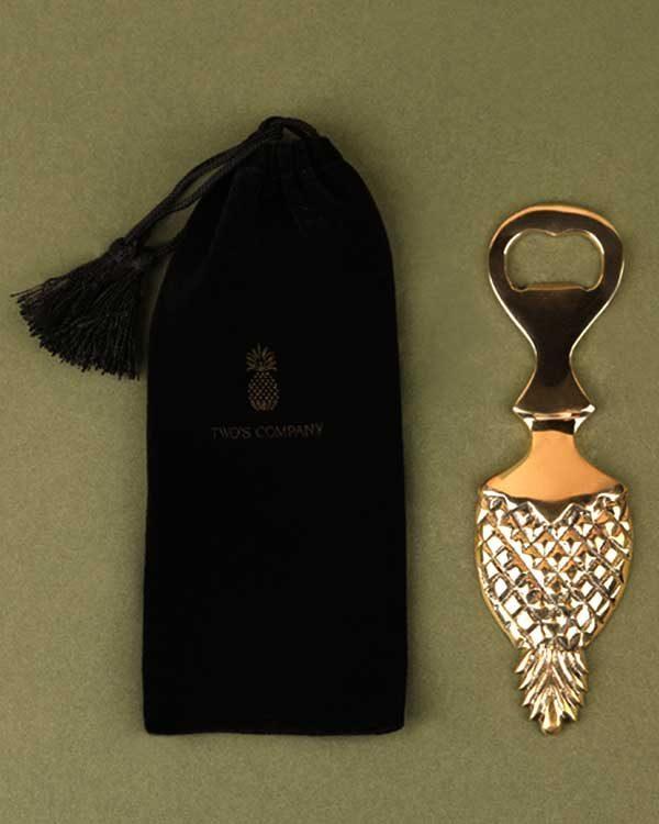 Brass pineapple shaped bottle opener