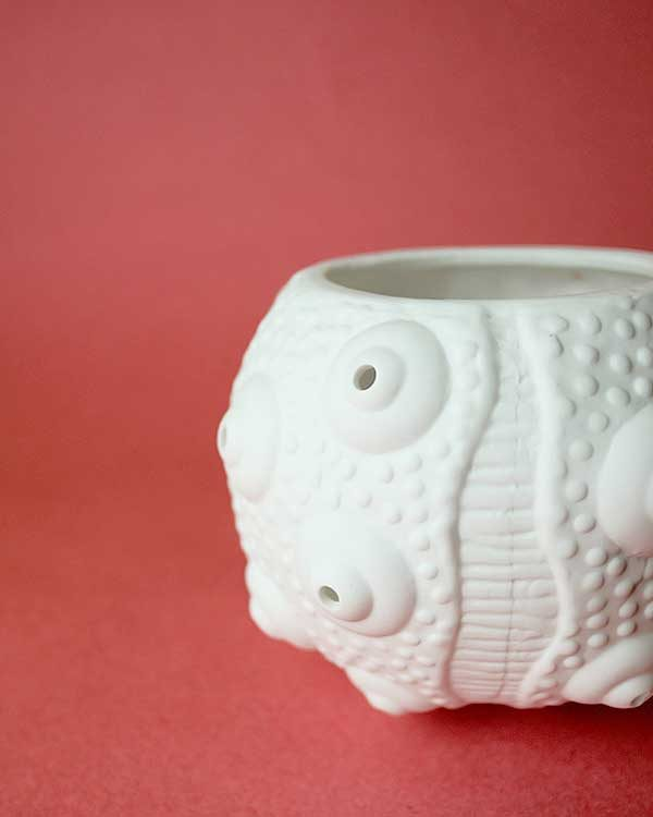 Nautical Ceramic Sea Urchin Tea Light Holder