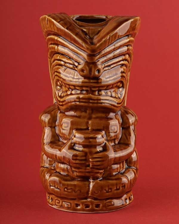 Ceramic Tiki Mug TheFloatingRumShak.com - Brown