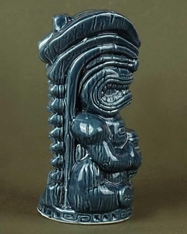 Ceramic Tiki Mug TheFloatingRumShak.com - Teal